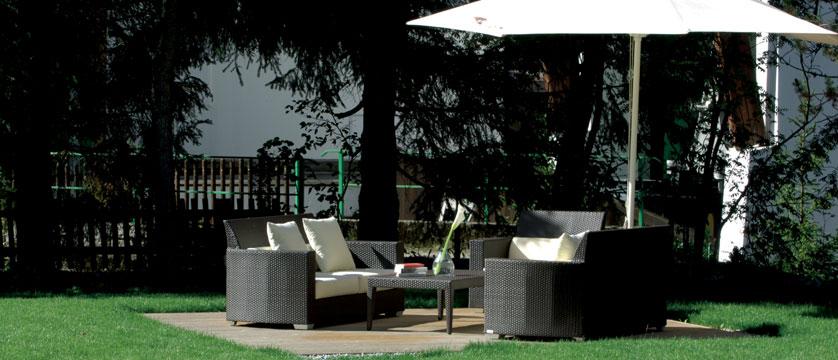 Hotel Arlberg, Lech, Austria - Seating area in garden.jpg